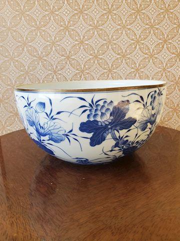 Porcelain blue and white large bowl
