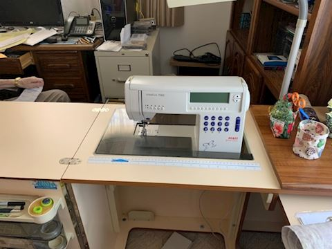Sewing Machine & Station