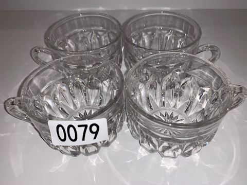 0079 Cut Glass Punch-bowl cups