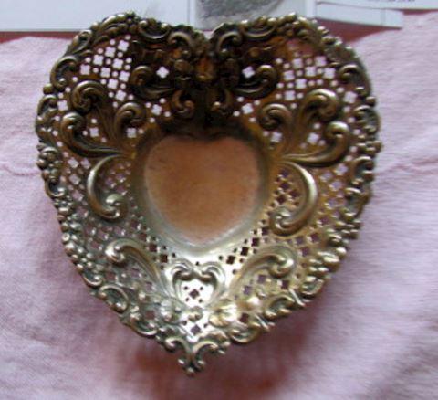 #118- GORHAM sterling silver heart dish