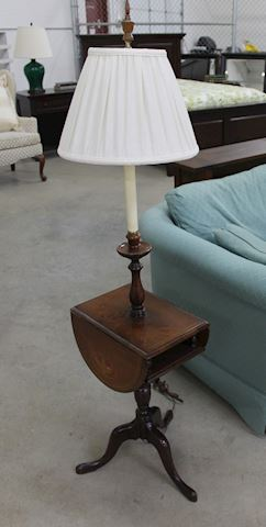 Drop Leaf Floor Table Lamp