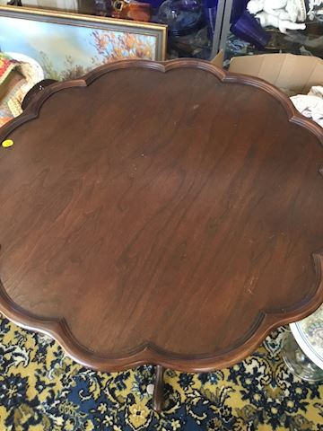 Scalloped vintage table
