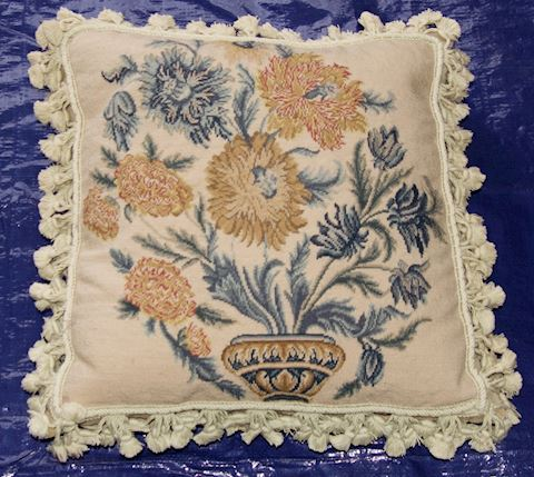 Pair Embroidered Decorative Pillows