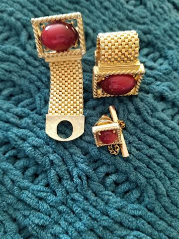 Swank Cuff links and Tie Tack
