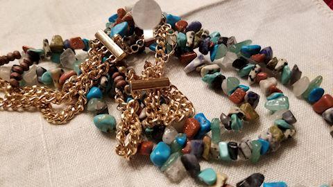 Turquoise, lapis, stones