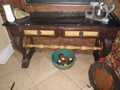 Sofa Table with Granite Top