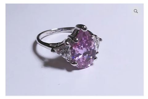 Purple Gemstone Sterling Silver Ring
