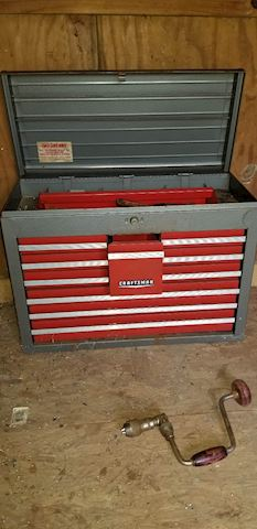 R 409   Craftsman tool Box with misc tools