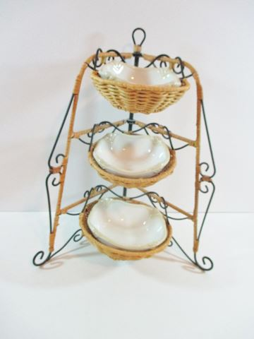 Princess House 3 Tier Basket /Pavillion Bowls