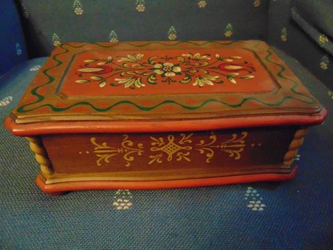 Swiss Music Jewelry Box