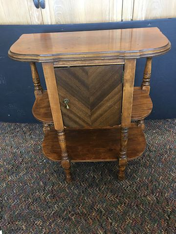 Antique Copper Lined Humidor Smoking Table