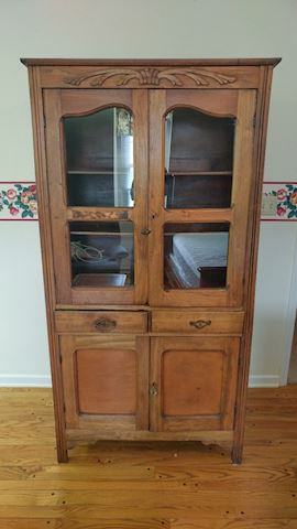 Antique China Cabinet OAK