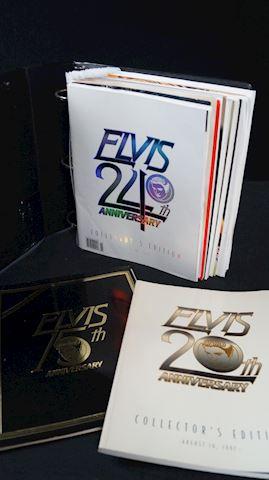 Lot #73 Elvis Presley Binder & Magazines