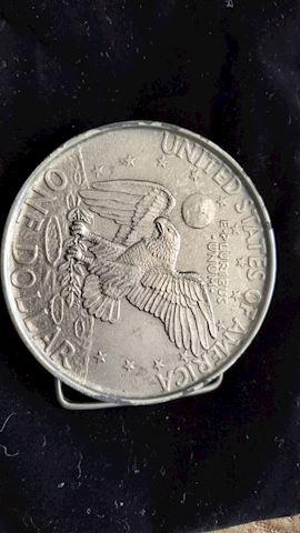 USA coin belt buckle
