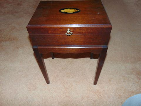 Mahogany Reproduction Chest Table