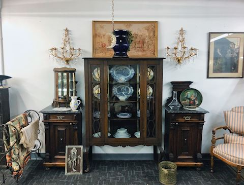 Fine Walnut China Cabinet