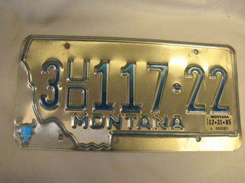 1985 Used Car Dealer Plate