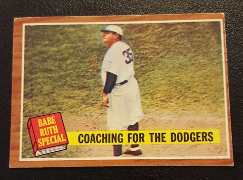Vintage 1962  Babe Ruth Baseball Card #142