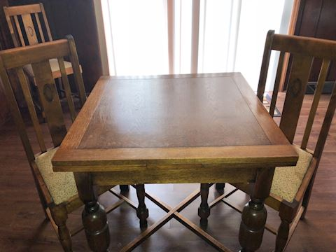 Solid Wood, Early Century,  Dining Table