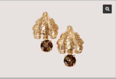 14K GOLD Provencal Balcony Andalusite Earrings