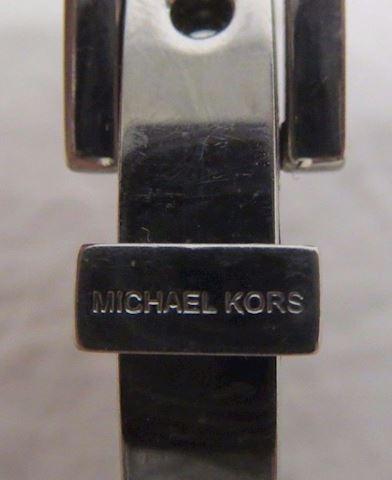 Michael Kors Blue and Silvertone Bangle Bracelet