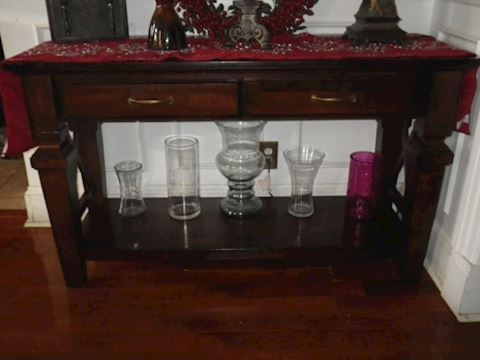Sofa Table with Two Drawers