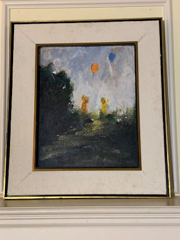 LIV. 133. Children with Balloons.   Painting