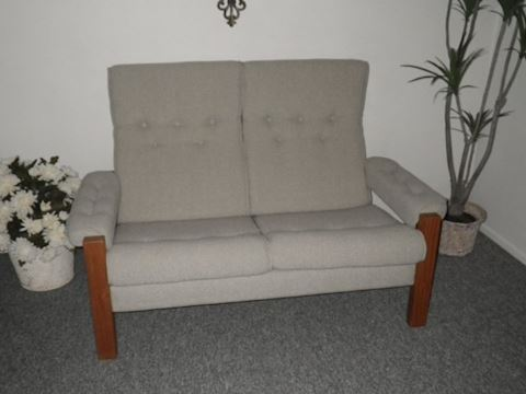 Gray Love Seat