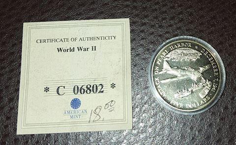 Attack on Pearl Harbor World War 2 Commemorative C