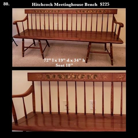 Hitchcock Meetinghouse Bench