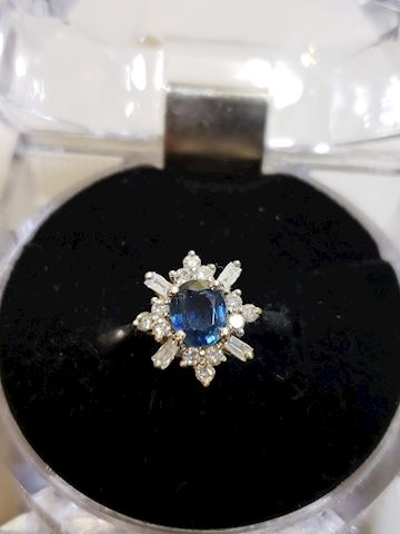 Sapphire and diamond ring size 7