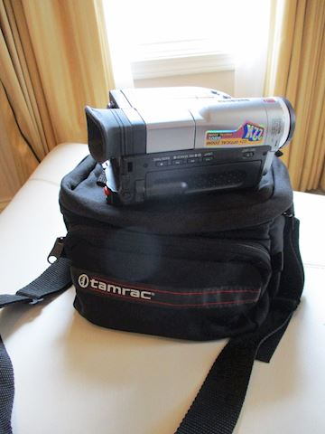 Digital video camera with bag