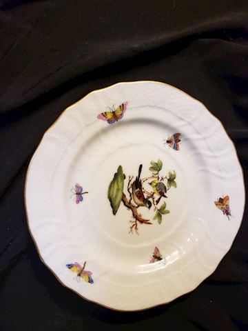 """HEREND HUNGARY ROTHSCHILD BIRDS 1515 RO 56 6"""" B&B"""