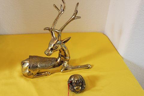Brass Deer & Brass Buddha