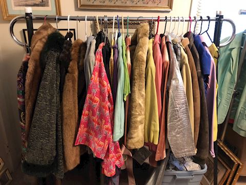1 New Designer clothes/purses, leather & Suede
