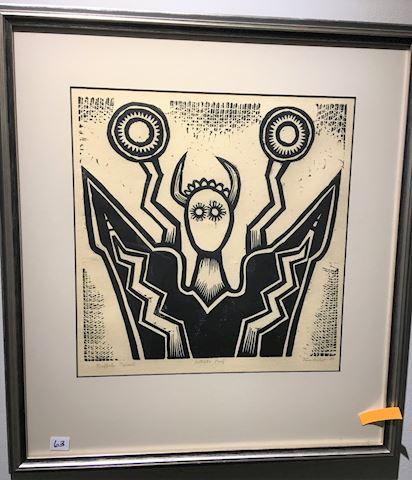 Signed Artist Proof Woodblock Print Buffalo Spirit