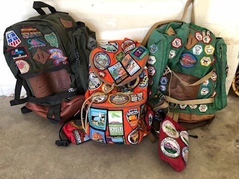 Vintage Camping Hiking Backpacks Lot of 3
