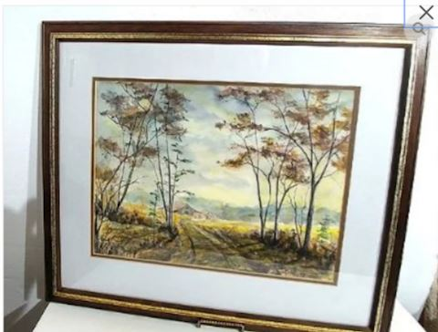 Original Watercolor Painting Signed
