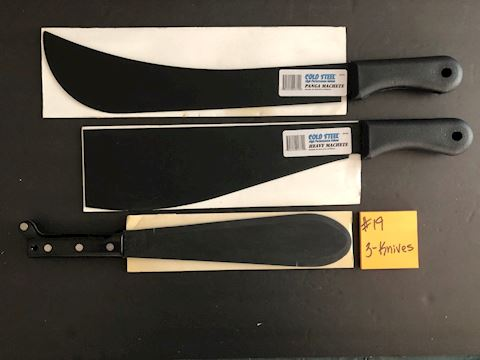 Collection of 3 Machete Knives Lot 19