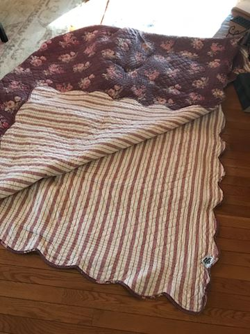 King size reversible quilt