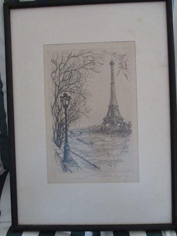 Henri LeRiche Pencil Sketch Litho