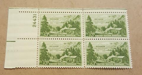 Nevada First Settlement Centennial Stamps