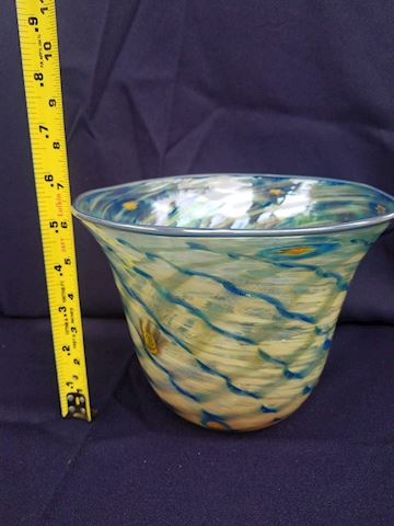 Beautiful hand-painted glass bowl