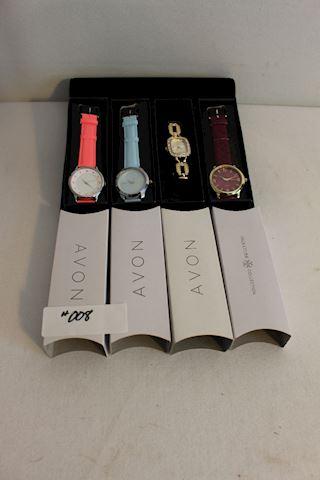 #008 New NIB Lot 4 Ladies  Fashion  Avon Watches
