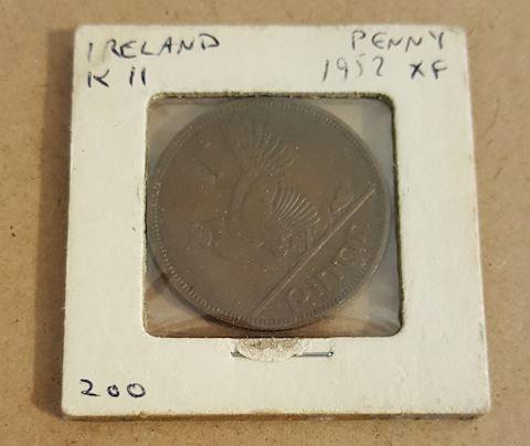 Old 1952 Ireland Penny