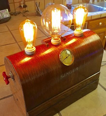 Singer Sewing Case Edison Light