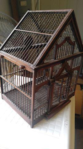 Victorian Style Wooden Bird Cage