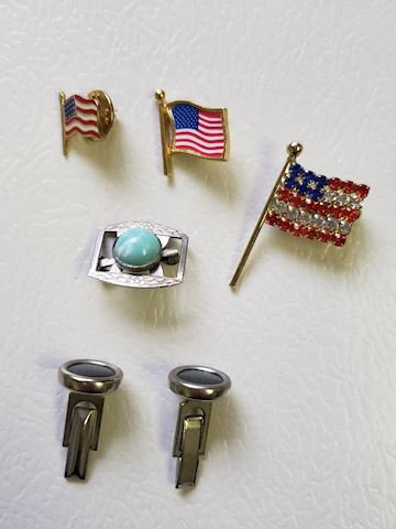 Pins and Cuff Links Lot