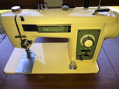 Vintage Brother Sewing Machine and table