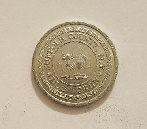 Old Suffolk County New York Bus Token